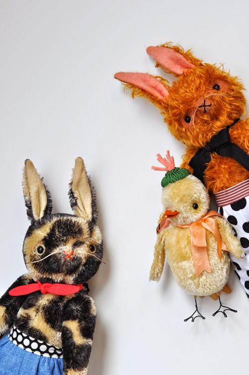 mohair, heritage, rabbit, chick,  handmade