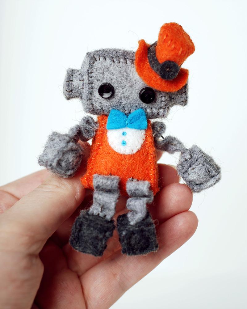 mini steampunk robot plush