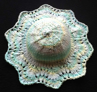 """cotton baby hat- """"On the Sunny Side"""""""