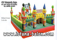 Istana Balon Mickey House 5x8