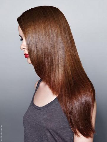 Кестенява коса - кафяво в топли тонове