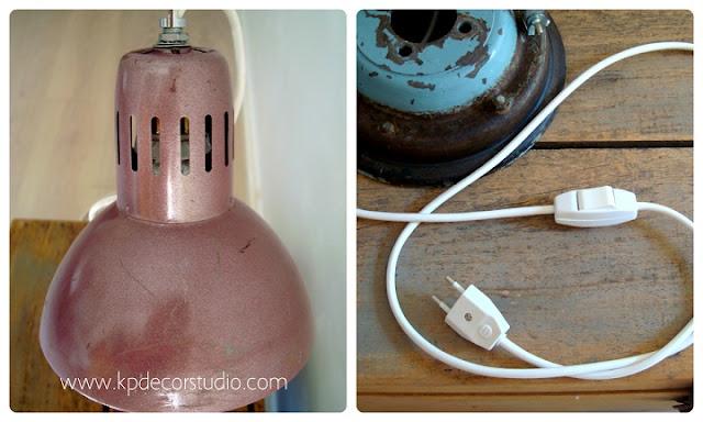 Lámpara vintage casera fabricada a mano, original y barata