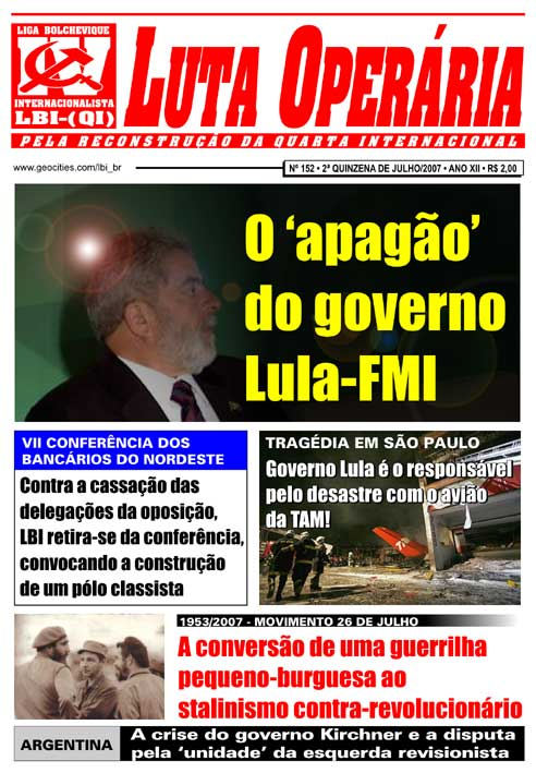 JORNAL LUTA OPERÁRIA Nº 152 - JULHO/2007