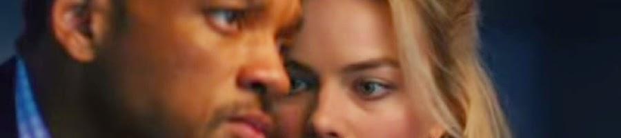 Will Smith sebagai Nicky Spurgeon bersama Margot Robbie Jess Barrett dalam adegan film Focus