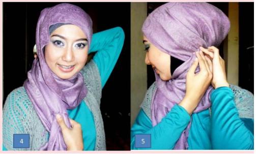 Cara Pakai Jilbab Pesta yang Cantik Untuk Lebaran