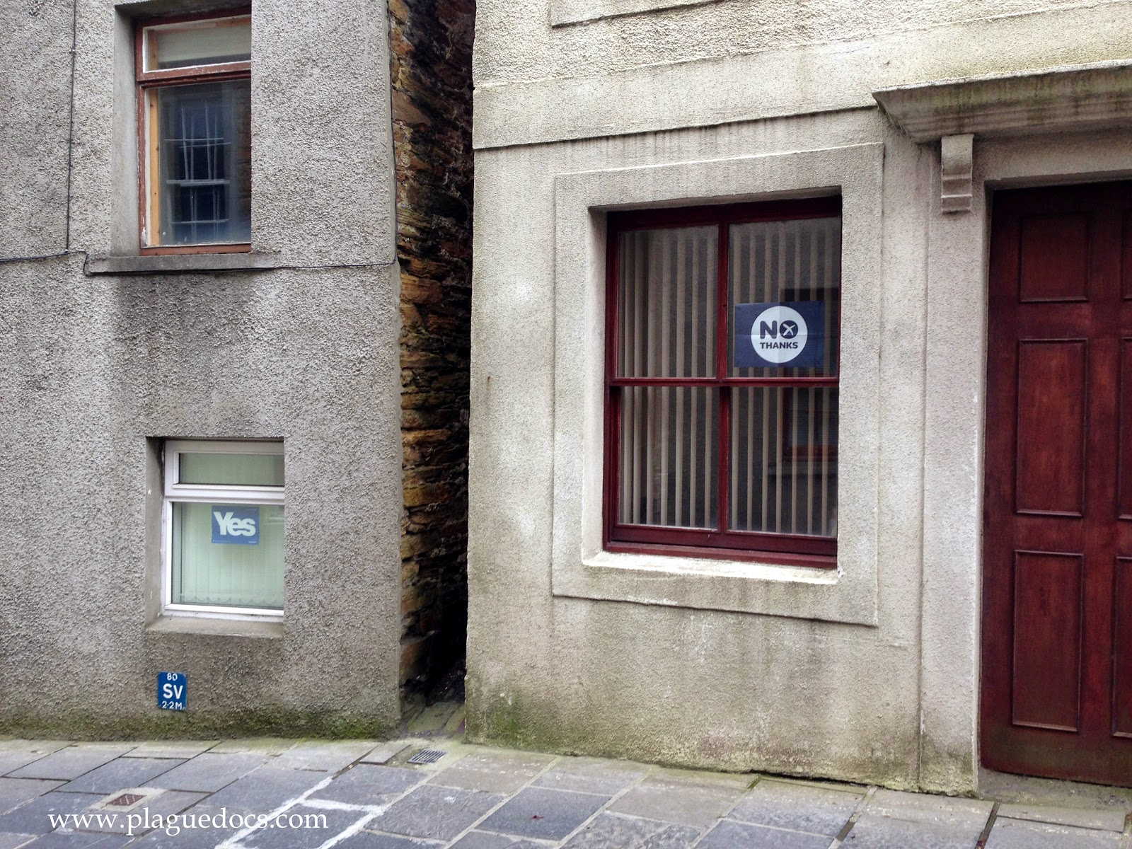 Scottish independence election signs, Stromness, Orkney