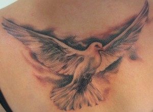 Dove Tattoos on back