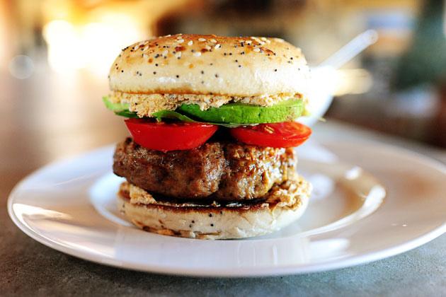 Turkey Bagel Burger via The Pioneer Woman