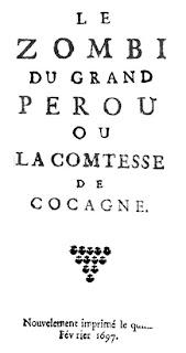 Le Zombi du Grand Pérou, 1697, frontespizio