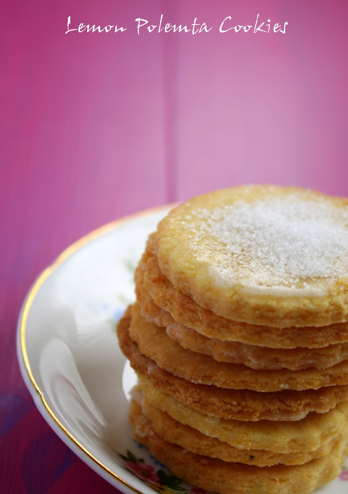 Lemon Polenta Cookies Recipe — Dishmaps