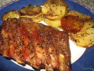 Costillas con patatas al comino