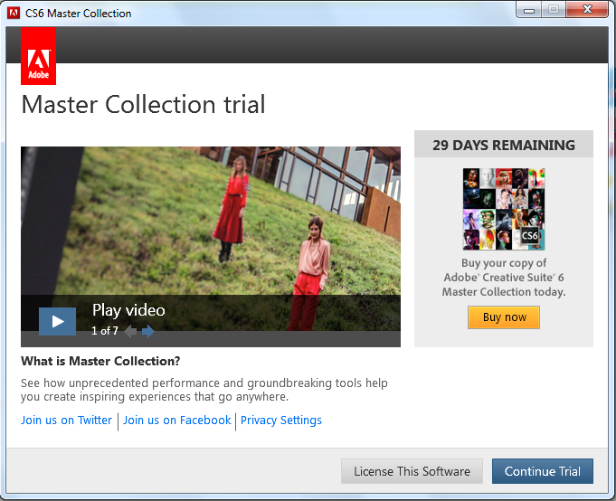 adobe cs6 master collection trial serial number