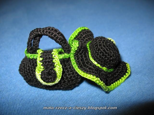 Mini przedmioty użytkowe - biżuteria na szydełku