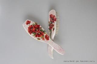 Decoupage – Makowe szczotki do włosów i skrzyneczka na biżuterię