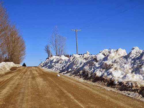 snowbank on March 12