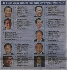 ... dalam daftar 40 orang terkaya di Indonesia versi Majalah Forbes