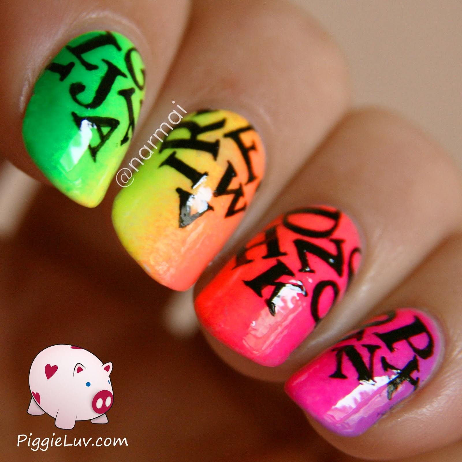 Nail Designs With Letters