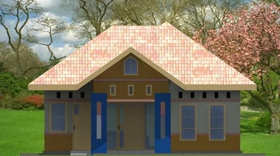 gambar atap rumah limas rumah type 54