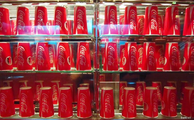 Gobelets de Coca-Cola au cinéma Ugc Ciné Cité de Lyon