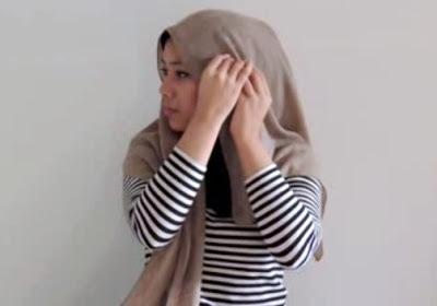Creation hijab urban chic hanya 3 menit part 4