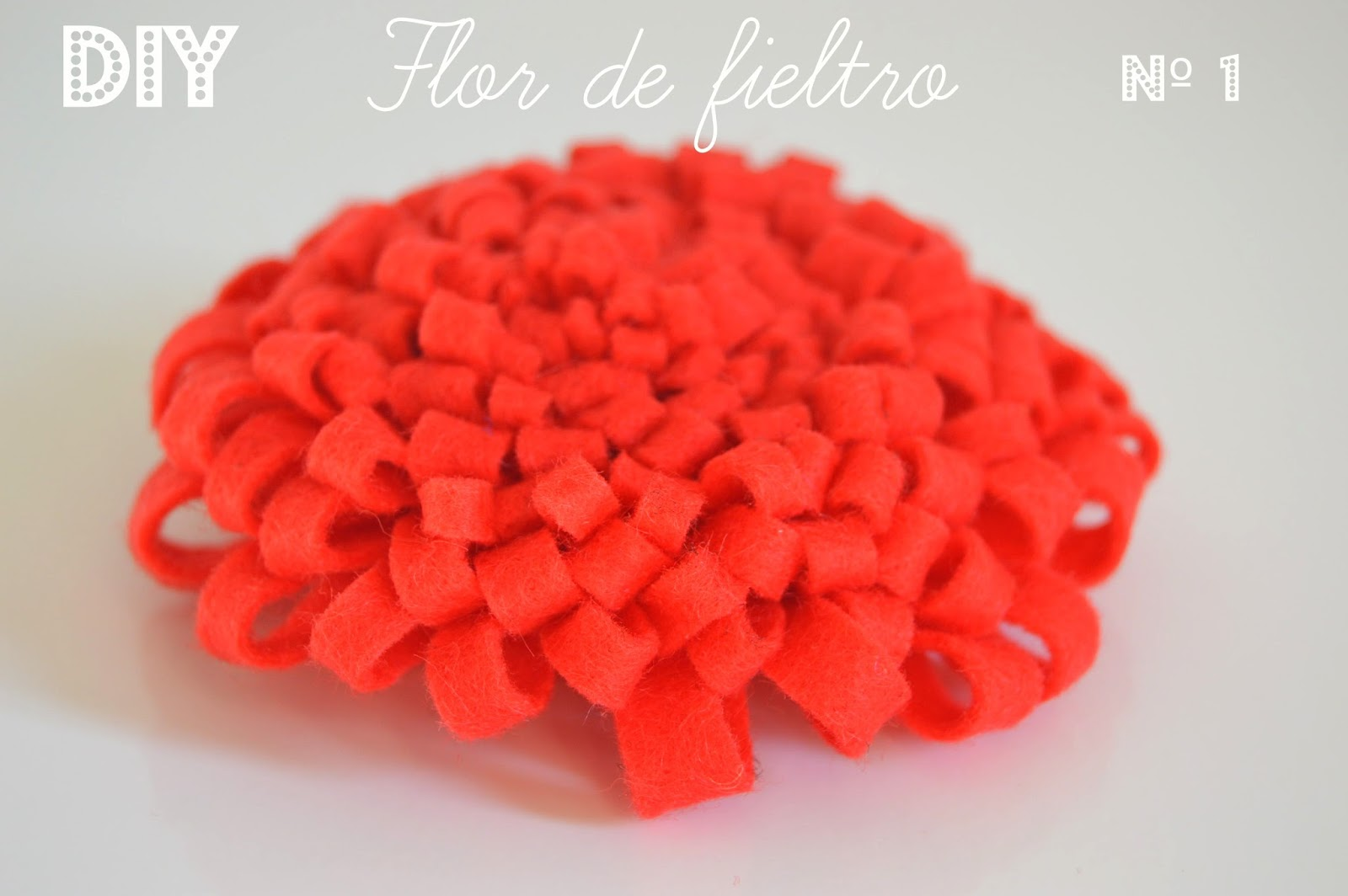 tutorial diy flor fieltro