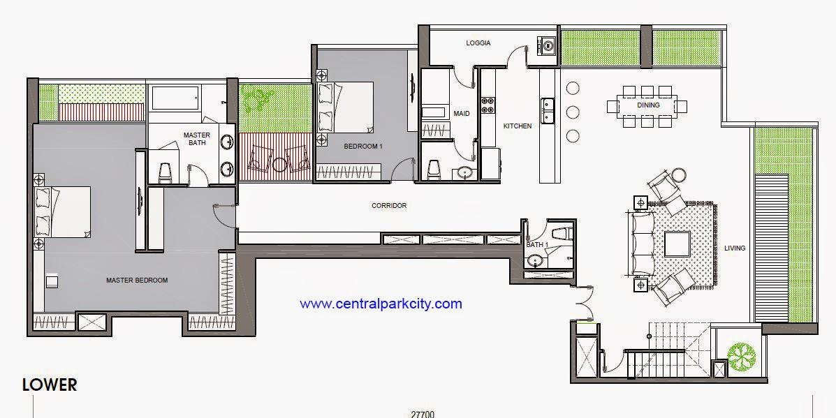 Penthouse Vinhomes Central Park - Căn số 01 tầng 36-37 Lower - 4PN - 456.3m2
