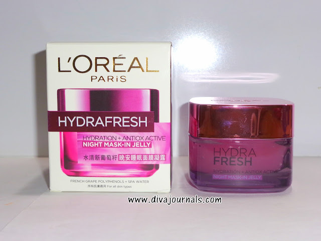 L'Oreal Paris Dermo Expertise Hydrafresh Night Jelly Review