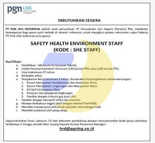 Lowongan Kerja BUMN Terbaru Oktober 2015 (PT. PGN LNG Indonesia)