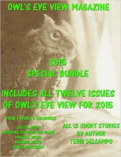 OWL'S EYE VIEW MAGAZINE - VOLUME 6- 2015 YEAR END BUNDLE - BY TERRI DELCAMPO