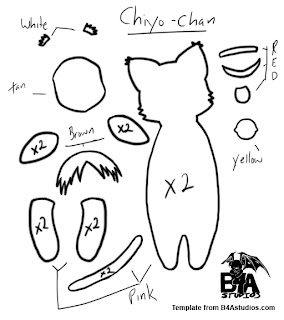 How to Make a Chiyo-chan Azumanga Daioh plushie tutorial template from felt