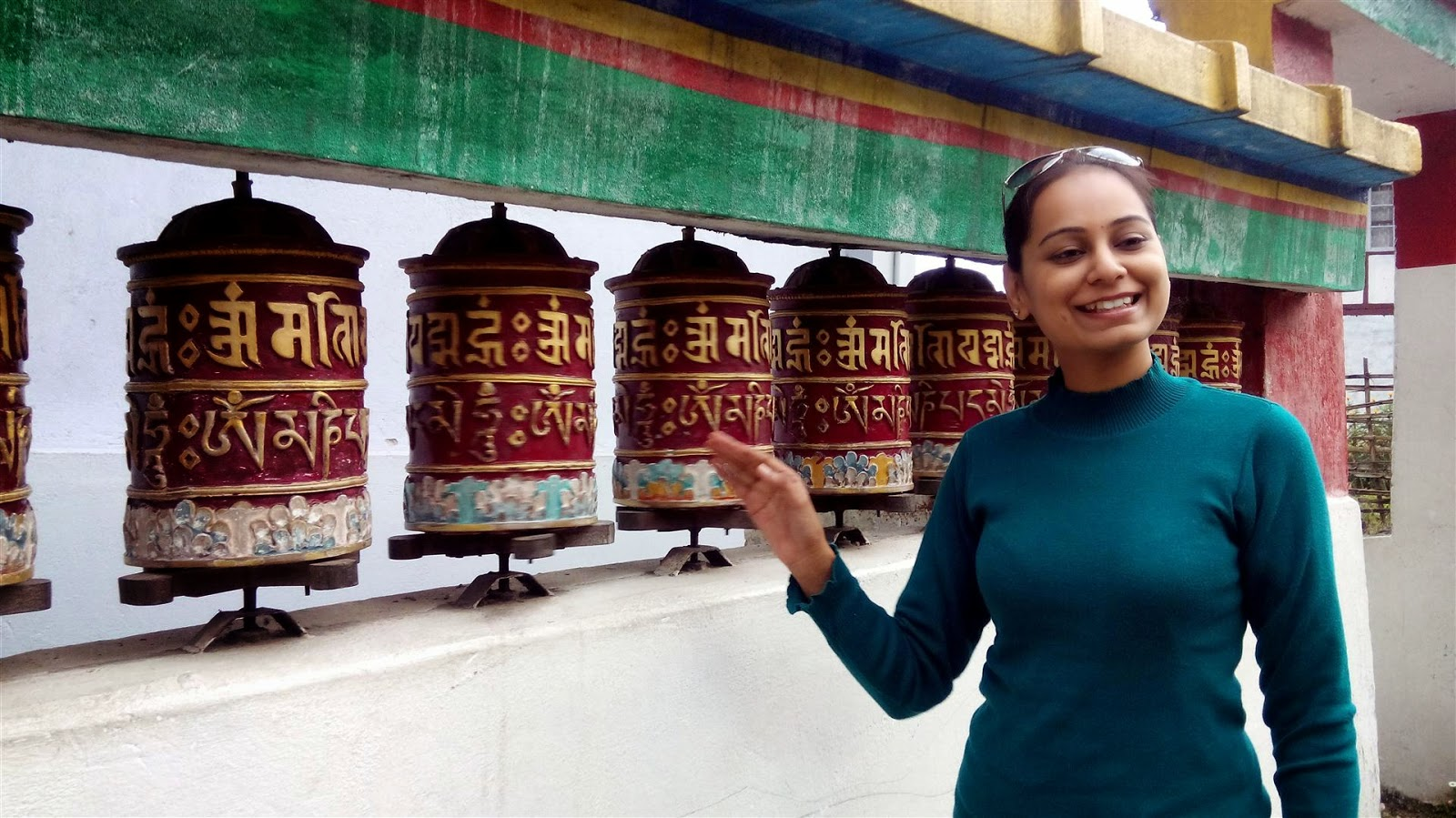 Rumtek Monastery Prayer Wheels