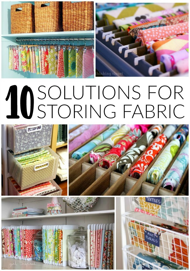 10 creative solutions for storing fabric - Littlehouseoffour.com