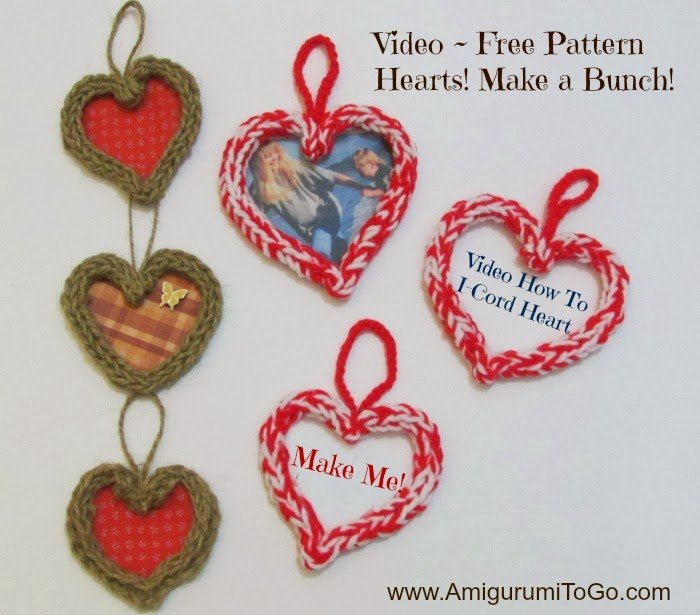How To Make An I-Cord Heart Video Tutorial ~ Amigurumi To Go