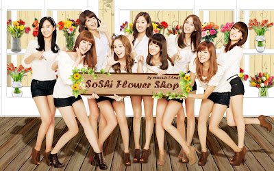 SNSD the Girls Generation in the Soshi Flower Shop Wallpaper
