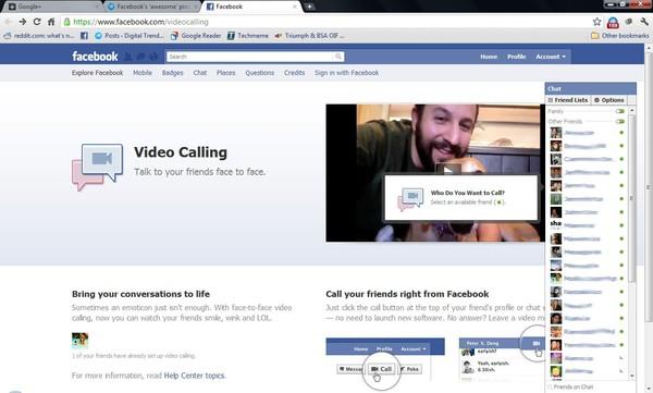 SKRIN sebuah komputer tablet menunjukkan paparan aplikasi panggilan percuma di Facebook.