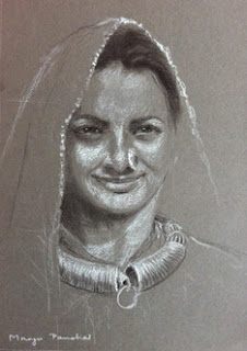 Portrait of Kutch woman with traditional jewellery, By Manju Panchal