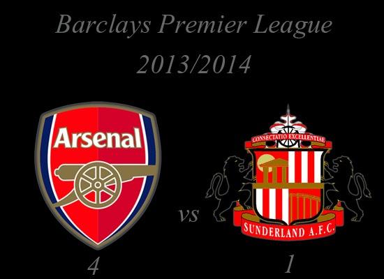 Arsenal vs Sunderland Barclays Premier League February 2014