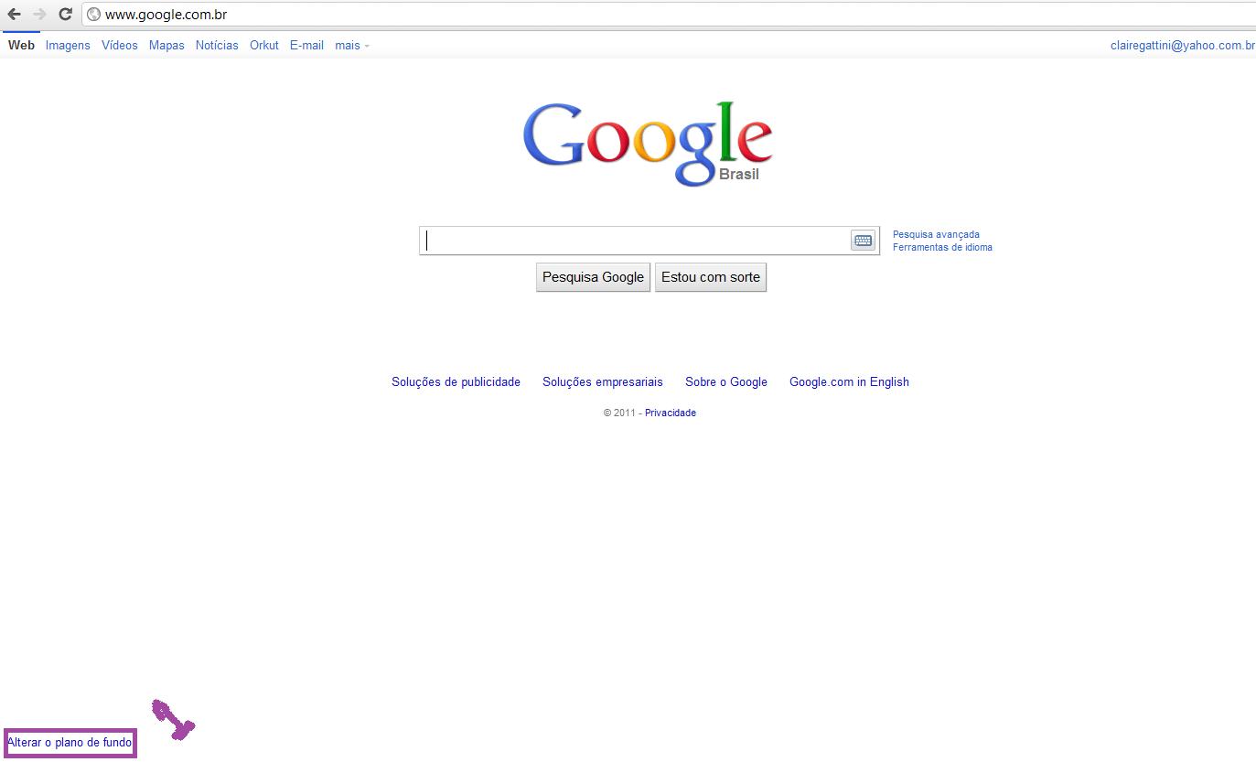 Como alterar o plano de fundo do google but anneway for Planos google
