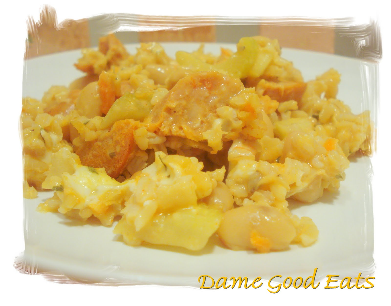 Dame Good Eats: Buffalo Chicken-Sausage Casserole