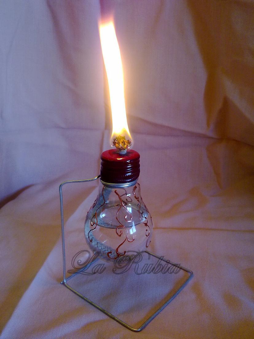 La rubia y sus manualidades lampara de parafina - Lampara de parafina ...