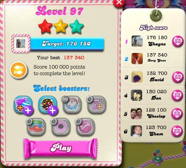 Candy Crush Saga - Walkthrough by Leng Guan Ho