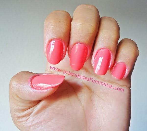 nail art de salmão