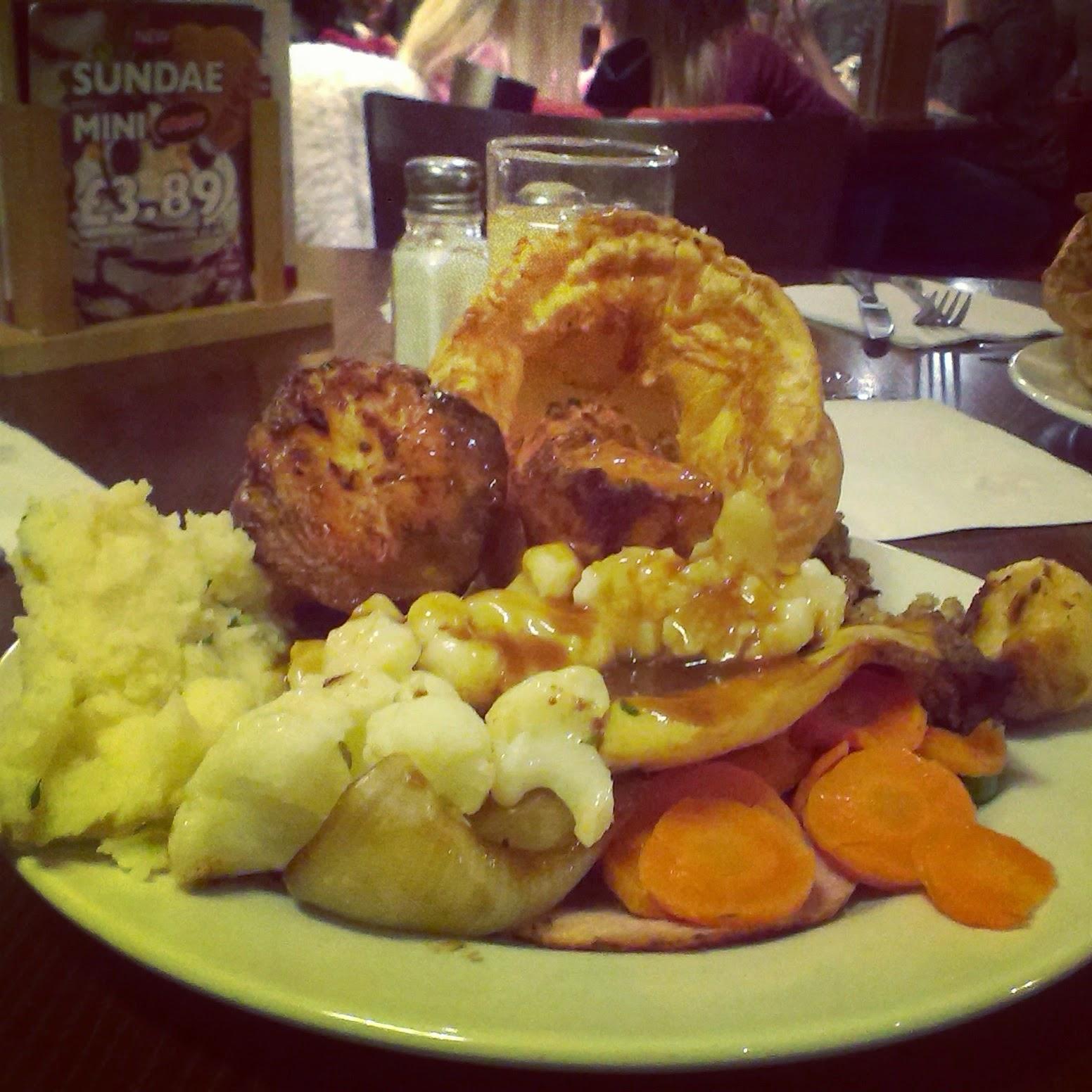 Toby Carvery Roast Dinner