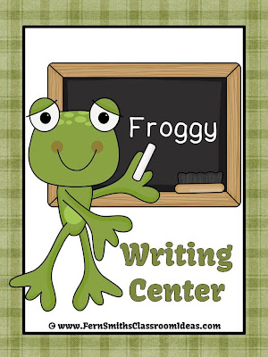 Fern Smith's Classroom Ideas FREE Froggy Series Writing Center Sign