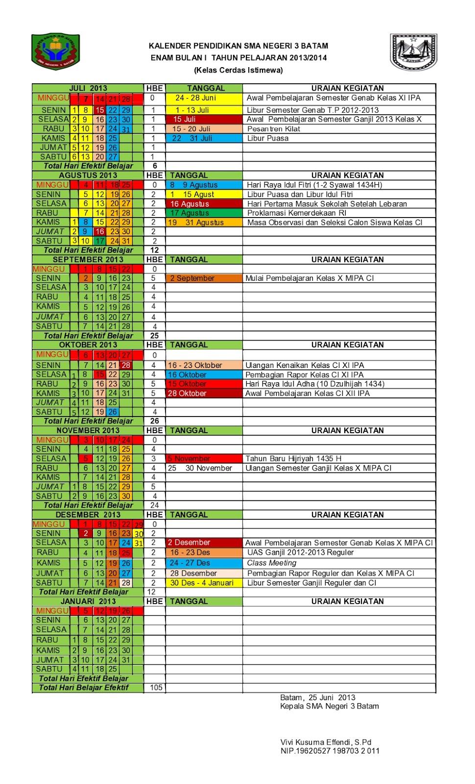 Download : Kalender Pendidikan Tahun Pelajaran 2013-2014