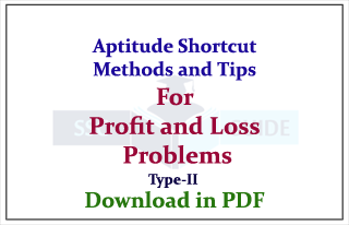 Aptitude Shortcut Methods and Rules for Profit and Loss