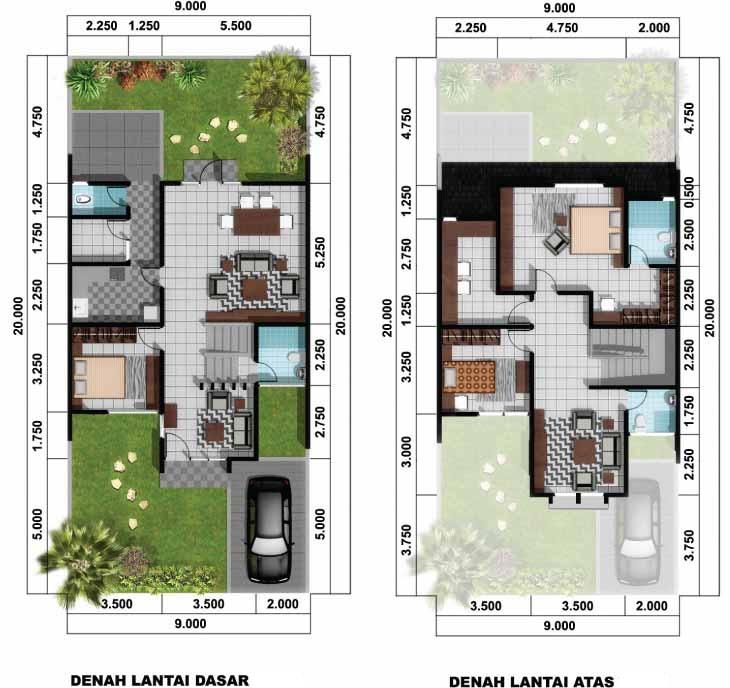 denah rumah minimalis tipe 60 terbaru gambar rumah minimalis