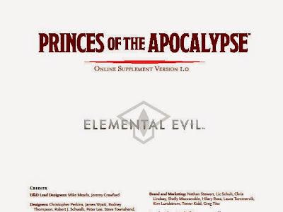 Suplemento gratuito para Princes of the Apocalypse