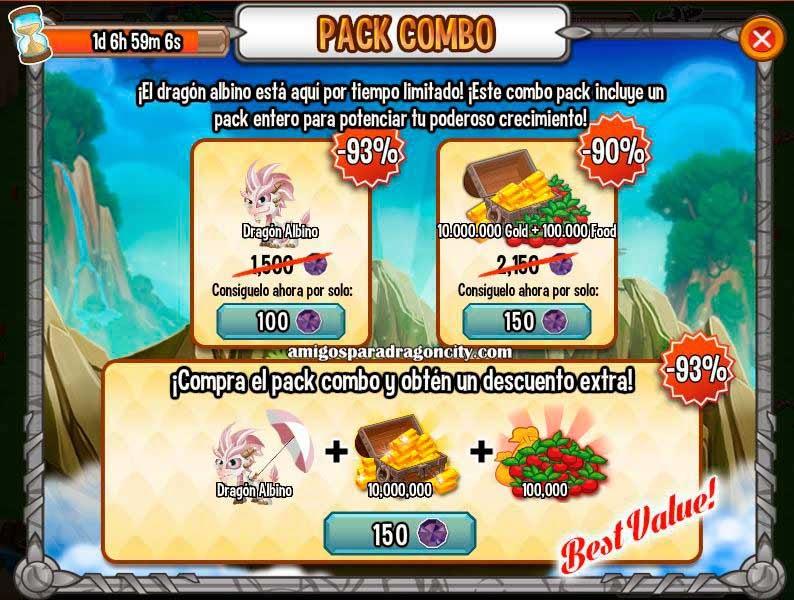 imagen de la oferta especial del dragon albino