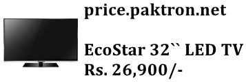 EcoStar 32-inche LED TV Price In Pakistan